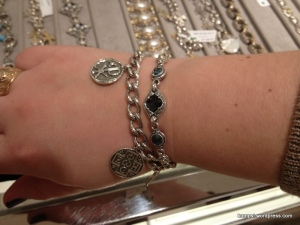 I really loved this double stranded bracelet with gemstones and charms.