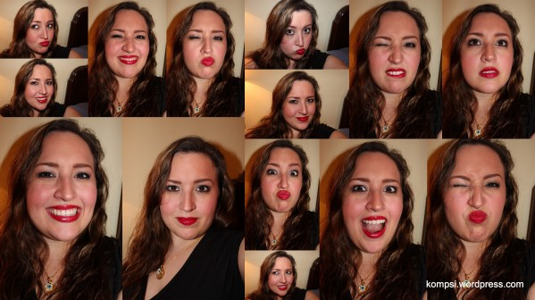 Love a red lip!