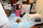 UD palettes and my brushes. The star box has my everyday earrings.