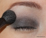 Lastly, take a soft highlighter shade to your brow bone, while softly buffing out the edges of the darker shade.