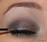 ...with some silver glitter liner on top of that.