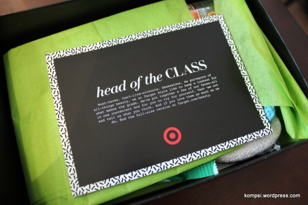 Head of the Class box