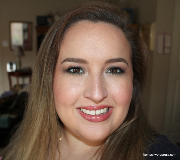 Wearing MUFE Rouge Artist Natural Lipstick